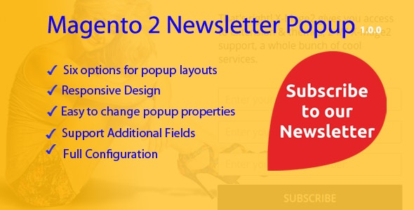 Magento 2 Newsletter Popup - CodeCanyon Item for Sale