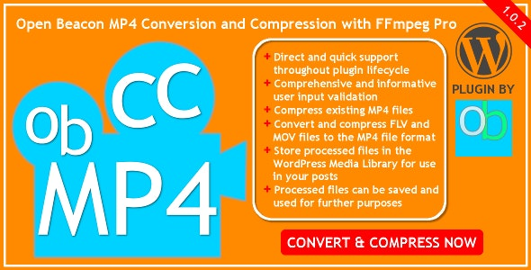 Open Beacon MP4 Conversion and Compression with FFmpeg Pro - CodeCanyon Item for Sale