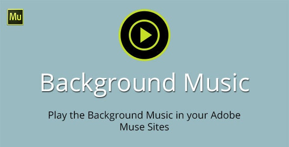 Background Music Adobe Muse Widget - CodeCanyon Item for Sale