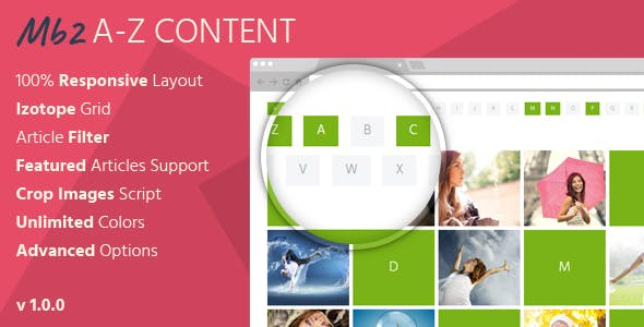 Mb2 A-Z Content - Joomla Content Module