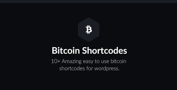 Bitcoin Shortcodes - CodeCanyon Item for Sale