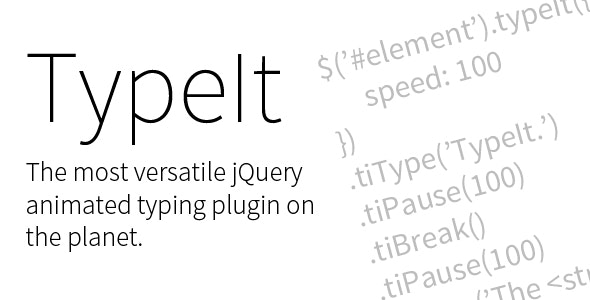 TypeIt. The Most Versatile jQuery Animated Typing Plugin on the Planet - CodeCanyon Item for Sale