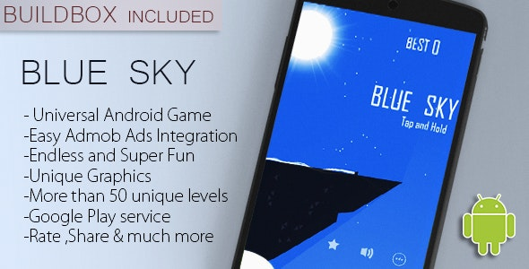 Blue Sky- Addictive Android Game Eclipse Project + Buildbox - CodeCanyon Item for Sale