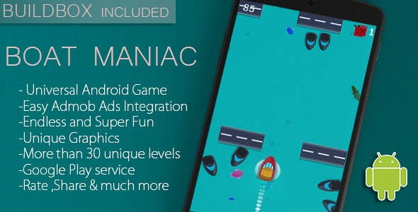 Boat Maniac - Android Game Template + Full Featured + Buildbox - CodeCanyon Item for Sale