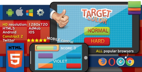 Target Color - HTML5 (.capx) - CodeCanyon Item for Sale