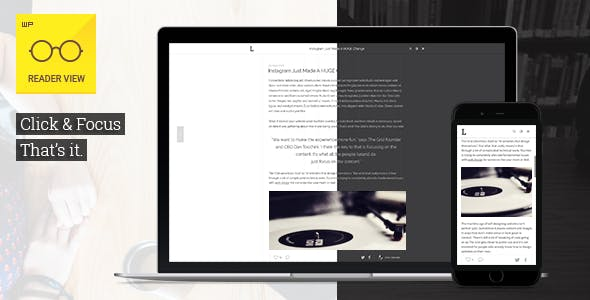 Reader View — WordPress Plugin