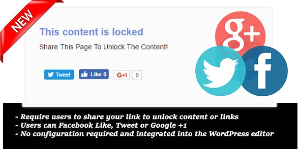 Content Locker Pro for Wordpress - CodeCanyon Item for Sale