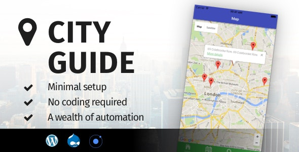 City Guide Ionic 5 - Full Application with Firebase backend - CodeCanyon Item for Sale