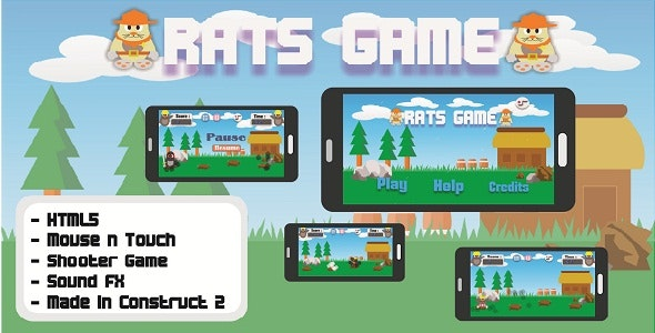 Rats Game - HTML5 Simply Point and Click Shooter Game - CodeCanyon Item for Sale