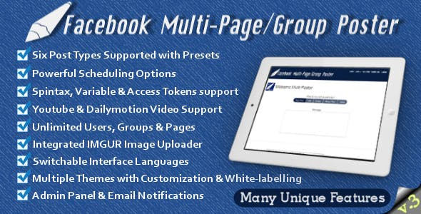 Facebook Multi-Page/Group Poster        Nulled