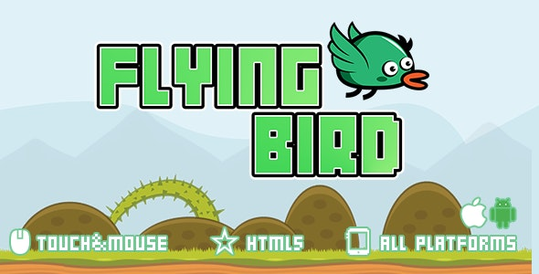 Flying Bird-html5 mobile game - CodeCanyon Item for Sale