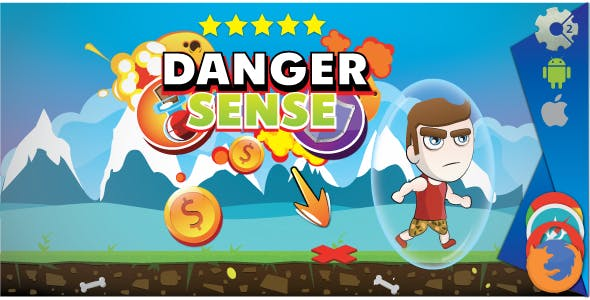 Danger sense - HTML5 game. Construct 2 (.capx)