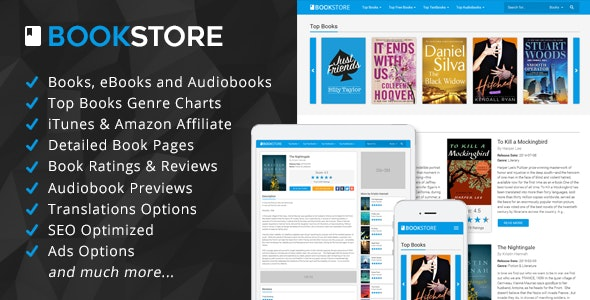 BookStore - Books, eBooks and Audiobooks Affiliate Script - CodeCanyon Item for Sale