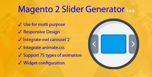 Magento 2 Slider Generator
