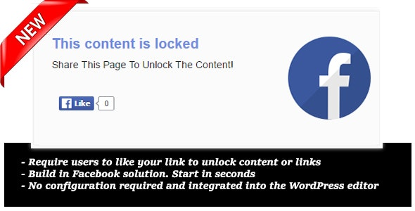 Like to unlock for Wordpress - CodeCanyon Item for Sale