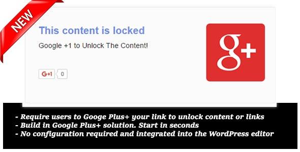 Google Plus +1 Locker for Wordpress - CodeCanyon Item for Sale