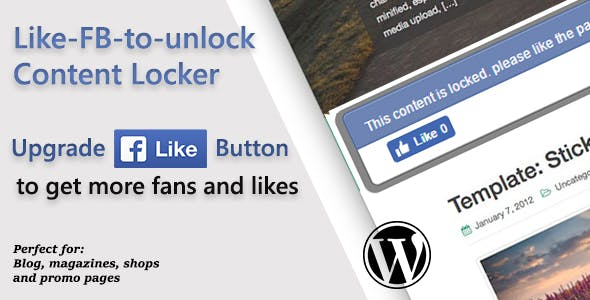 Like FB to unlock for Wordpress