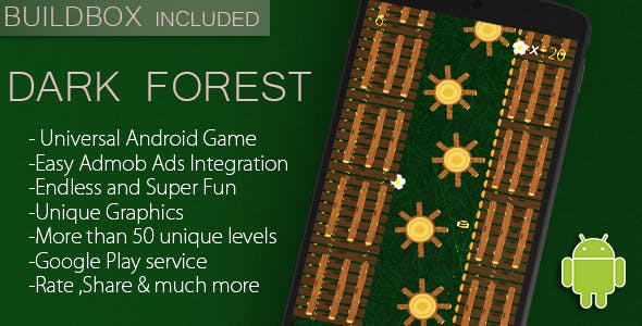 Dark Forest - Full Android Game + Admob/Leaderboard + Buildbox file