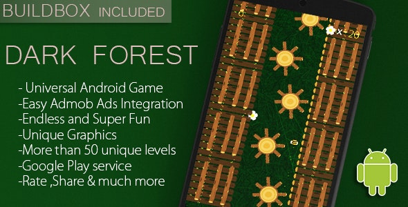 Dark Forest - Full Android Game + Admob/Leaderboard + Buildbox file - CodeCanyon Item for Sale