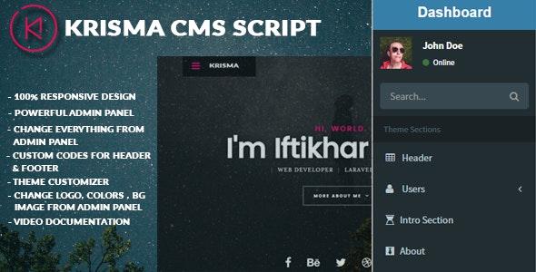 Krisma CMS Script - CodeCanyon Item for Sale