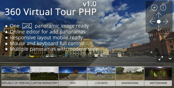 360 Virtual Tour PHP - CodeCanyon Item for Sale
