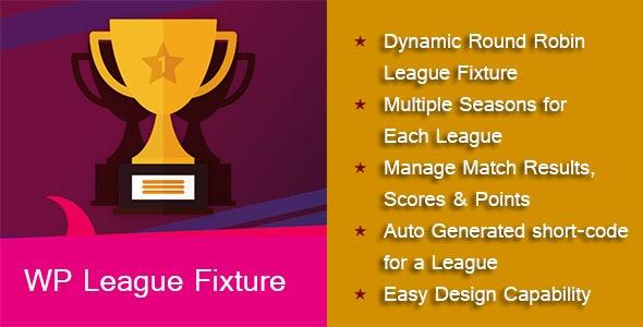 Wp league fixture - CodeCanyon Item for Sale