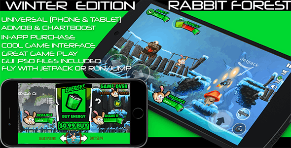 Rabbit Forest - iOS - Android - iAP + ADMOB + Leaderboards + Chartboost Buildbox