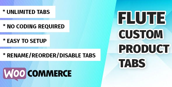 Flute Custom Product Tabs for WooCommerce