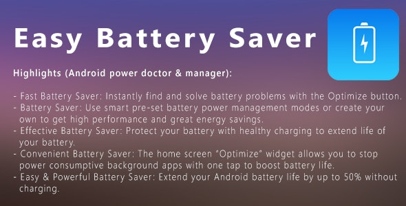 Easy Battery Saver - CodeCanyon Item for Sale