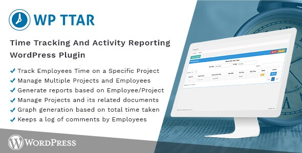 Time Tracking and Activity Reporting WordPress Plugin - CodeCanyon Item for Sale