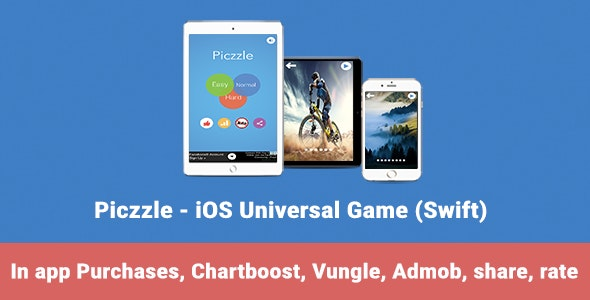 Piczzle - iOS Universal Game (Swift) - CodeCanyon Item for Sale