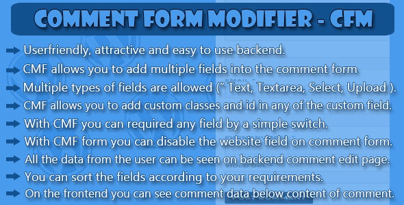 Comment Form Modifier - CFM - CodeCanyon Item for Sale