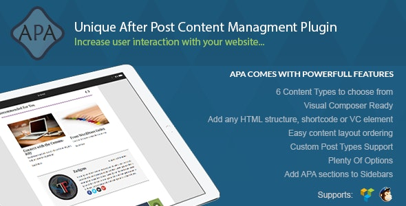 APA - After Post Content Managment - CodeCanyon Item for Sale