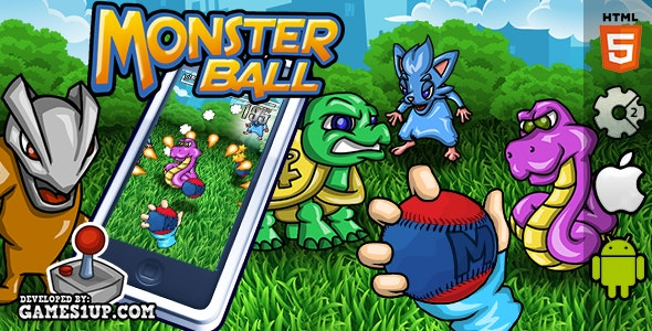 Monster Ball! HTML5 CAPX Construct 2 - CodeCanyon Item for Sale