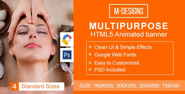 Multipurpose HTML5 Banner Ad Templates - CodeCanyon Item for Sale