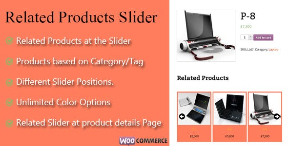 WooCommerce Related Products Slider