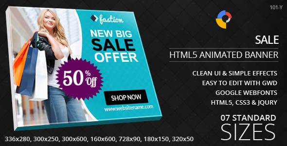 Fashion Sales - HTML5 ad banners