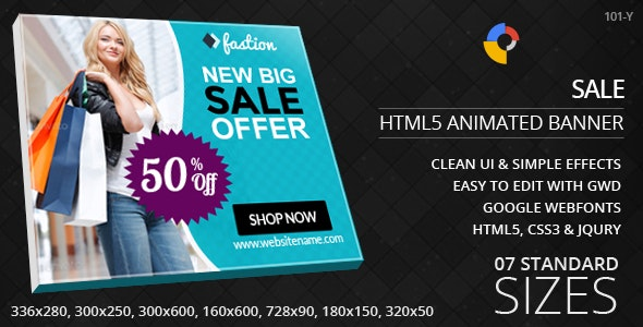 Fashion Sales - HTML5 ad banners - CodeCanyon Item for Sale