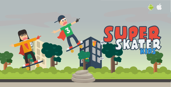 Super Skater Kids - HTML 5 Game (Capx) - CodeCanyon Item for Sale