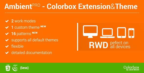 Ambient Blur Background for ColorBox + Theme