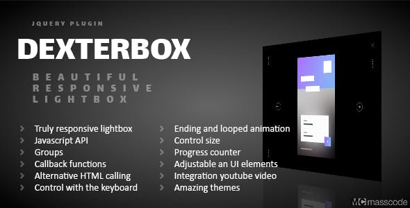 Dexterbox - Beautiful responsive lightbox