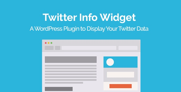 Twitter Info Widget WordPress Plugin - CodeCanyon Item for Sale