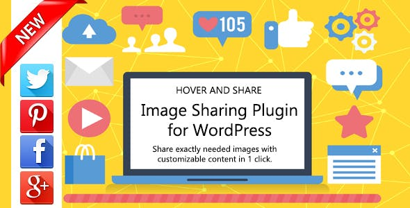 Hover and Share Images for Wordpress