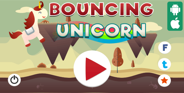Bouncing Unicorn - HTML5 Game (Capx) - CodeCanyon Item for Sale