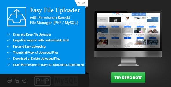 Easy File Uploader - PHP Multiple Uploader with File Manager by