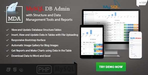 MySQL Database Admin and Reports - Manage Database and Data Made