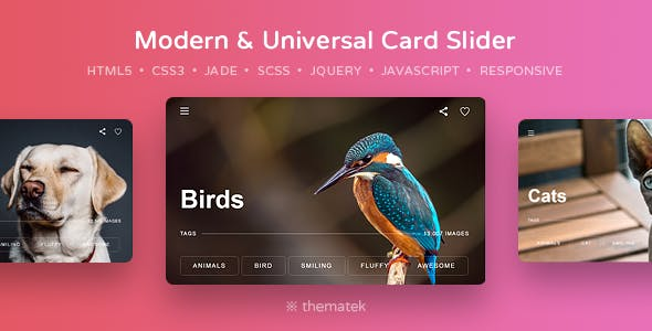 Card Slider — Modern & Universal HTML5, CSS3 and jQuery Slider