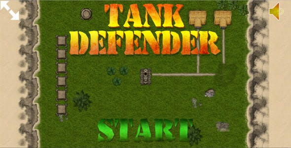Tank Defender - HTML5 Mobile Game