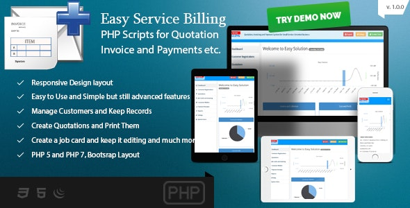EasyService Billing - PHP Scripts for Quotation, Invoice, Payments etc. - CodeCanyon Item for Sale