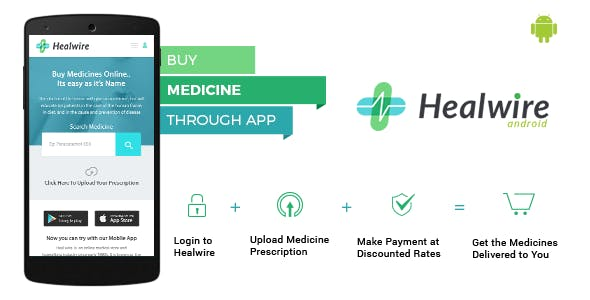 Healwire Android - Online Medical Store